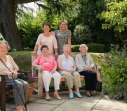 The Mount, Bebington - residents in the garden